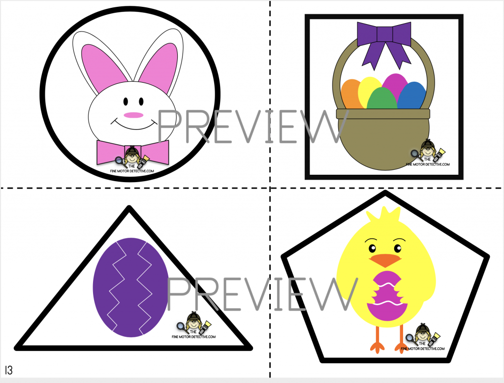 Easter Cutting Activity