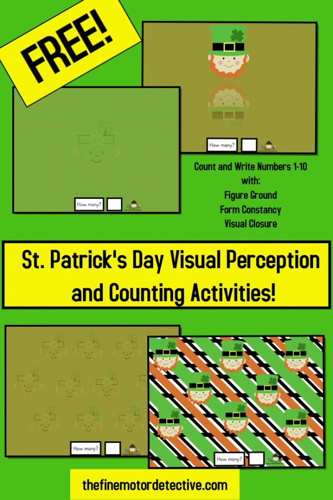 St. Patrick's Day Visual Perception Activities