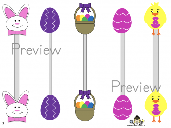 Easter Prewriting Printable