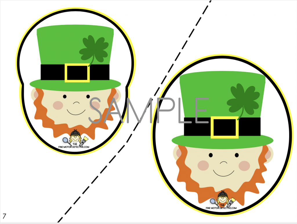 St. Patrick's Day Cutting Activity