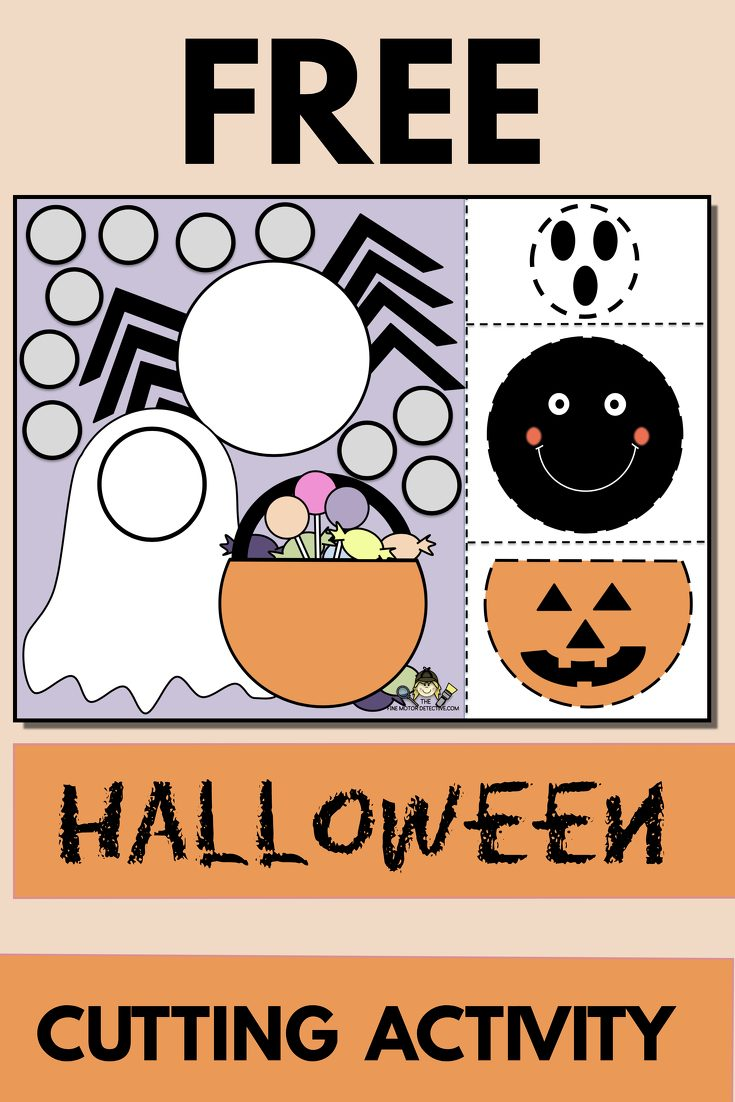 Free Halloween Cut and Paste Activity