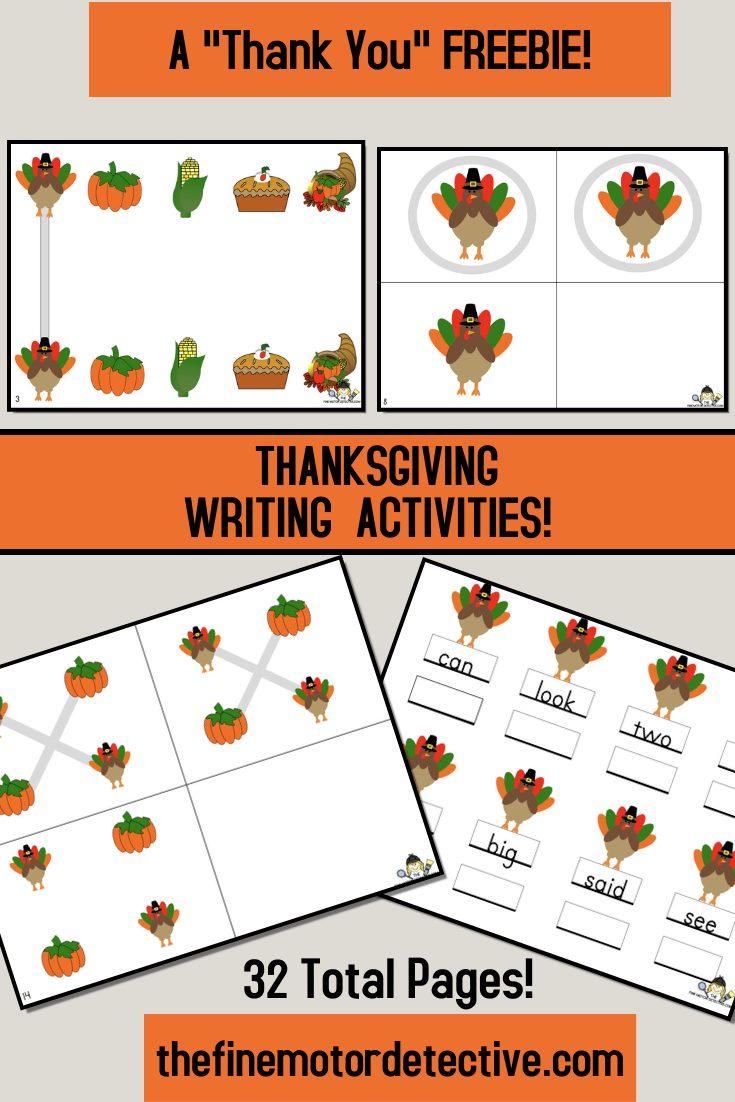 Free Thanksgiving Writing Activities